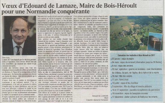 2017 voeux du maire Bois Heroult Edouard de lamaze